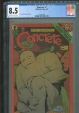 CONCRETE 1 (SECOND PRINTING) PAUL CHADWICK STORY, COVERS & ART CGC VF PLUS 8.5