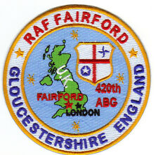 USAF BASE PATCH, RAF FAIRFORD, GLOUCESTERSHIRE ENGLAND, 420TH ABG