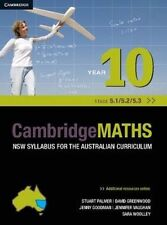 Cambridge Mathematics NSW Syllabus for the Australian Curriculum Year 10 5.1, 5.2 and 5.3 by Sara Woolley, Stuart Palmer, Jenny Goodman, David Robertson, David Greenwood, Jenny Vaughan (Paperback, 2014)