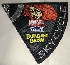 New 2015 Lowe's Build And Grow Marvel Black Widow Skycycle Patch Exclusive Htf