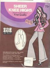 Best Ever Sheer Knee Highs Suntan OSF One Size Vintage 1970s Nylon Sealed