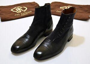 Jan Kielman Bespoke Shoemaker Balmoral Spat Boots near 43 size