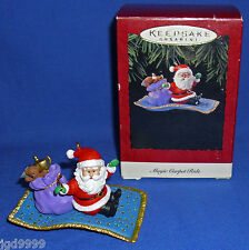 Hallmark Ornament Magic Carpet Ride 1994 Aladdin's Lamp in Santa's Bag Used