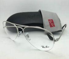 6d89d9a154e9 New RAY-BAN Eyeglasses RB 6589 2501 56-15 140 Aviator Semi Rimless Silver