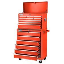Carro para herramientas Pro armario acero 4 ruedas 16 cajones Rojo-greencut
