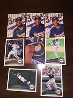 Milwaukee Brewers Lot Of 8 MLB Baseball Trading Cards Topps Studio Yount Fielder