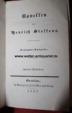 Henrich Steffens: Die Familien Walseth und Leith 1837 Band I+II in einem Buch