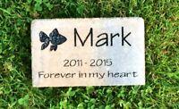 Personalized, Engraved Pet Memorial Stone, Fish, Cat, Dog, Horse, Garden Decor