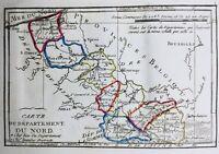 Nord en 1794 Le Quesnoy Hazebrouck Bergues Avesnes Cambrésis Orchies Trélon