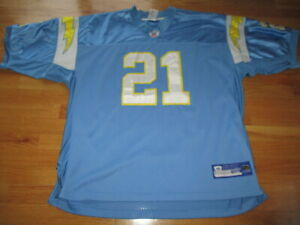 Reebok LaDAINIAN TOMLINSON No. 21 SAN DIEGO CHARGES (Size 56) On-Field Jersey