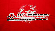 Warrior Extreme Sports Boards Skateboard Bright Red Ad T-Shirt New Nos Sz Lg