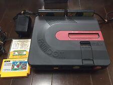 NEW BELT working Sharp Black Twin Famicom Console AN-500B NTSC-J