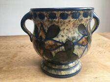 Vintage arts and crafts pottery urn shaped vase made by Upsala Ekeby