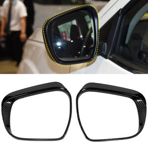 Side Mirror Eyebrow Cover Trim 2pcs For Nissan Navara Frontier NP300 2015-2019