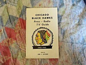 1962-63 CHICAGO BLACKHAWKS MEDIA GUIDE YEARBOOK 1963 BOBBY HULL Program AD