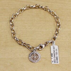 Thomas Sabo Charm Club Sterling Silver & Diamond Medium Link  Bracelet 18cm
