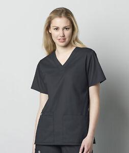 Wonder Wink Wonder Work Nurse Scrub Women's V-Neck Top Style 101 ~Free Shipping~