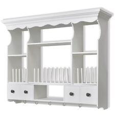 Wall Mount Cabinet Cupboard Shelf Kitchen Organizer Unit MDF Pine Wood White