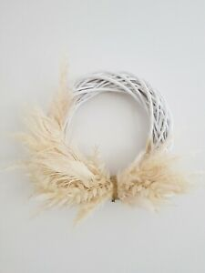 🕊Pampas Grass and Peacock Feather Wreath Dried Flowers