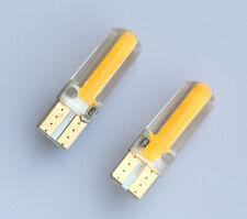 2x T10 194 168 W5W COB 20 SMD SILICA Super Bright LED Light Bulbs Amber Yellow