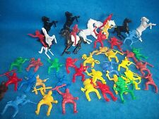 """Payton Cowboy & Indian Toy Soldiers 44 pieces - 2"""" tall"""