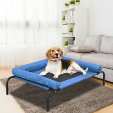 Pawz Pet Bed Heavy Duty Frame Hammock Bolster Trampoline Dog Puppy Mesh L Blue