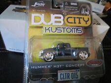 dub city  2003 hummer dub city blue big mags jada 1/64 H3T CONCEPT hummer