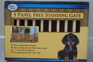 5 Panel Free Standing Pet Gate