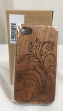 NIB New in Box iPhone 4/4S Natural Bamboo Case w Engraved Scroll Design