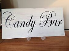 Wedding CANDY BAR table sign shabby n chic vintage style gift Home free P&P