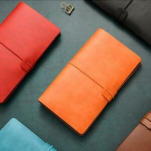 A6 Notebook Diary Notepad Vintage PU Leather Notebook New Replaceable Y5P5