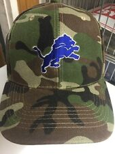 Detroit Lions Camouflage Baseball Hat New Adult FREE SHIPPING
