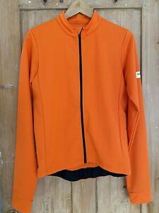 ALBION Men's Size L Long Sleeve Orange Cycling Jersey