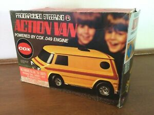 VINTAGE 1970's COX ACTION VAN .049  IN ORIGINAL BOX w/INSTRUCTIONS AND EXTRAS