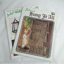 Lot of 2 Vintage Macrame Booklet/Leaflet