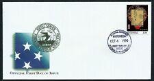 MICRONESIA, SCOTT # 356-O, FDC COVER OF GUNPOWDER, TECHNOLOGY OF ANCIENT CHINA