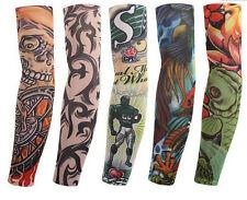 6 x Tattoo Ärmel Skin Arm Sleeve Strümpfe Stulpe Karneval Fasching Kostüme
