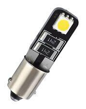 1 x BA9S Metallsockel 2 SMD LED Innenraumbeleuchtung Fußraumbeleuchtung Weiß