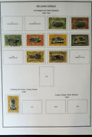 Belgian Congo Colonies 1800s to 1970s Vintage Stamp Collection