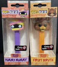 Lot Of 2 Yummy Mummy And Fruit Brute Monster Cereal Funko POP! Pez dispensers