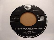 "EARTH KITT "" IF I CAN'T TAKE IT WITH ME ( WHEN I GO ) 7"" SINGLE 1958 JAZZ"