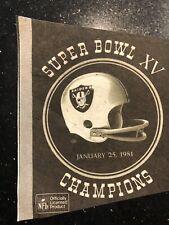 Rare Vintage Oakland Raiders Super Bowl Champions 1981 Pennant