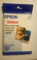 """Epson Glossy Photo Paper~ 20 Sheets 4"""" x 6"""" Ink Jet Printer Paper"""