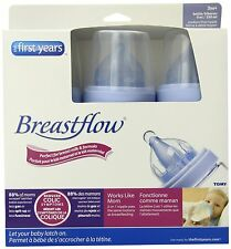 The First Years 3 Pack Breastflow Bottle, 9 Ounce, New, Free Shipping