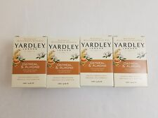 YARDLEY London Oatmeal & Almond Bar Soap 4.25 oz. (120 g) Lot of 4