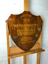 Vintage Wooden Trophy Shield Southall Hopkins Swimming challenge