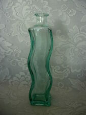 Collectible VETRERIA ETRUSCA Lt.Aqua/Green Curved Bottle - Made in Italy