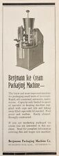 1925 AD.(XF13)~BERGMANN PACKAGING MACHINE CO. PITTS., PA. ICE CREAM PACKAGING