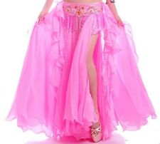 NEW Belly Dance Costume 2 layers with Slit Skirt&Dress Bollywood Rio Carnival