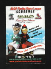 Jupiter Hammerheads & Palm Beach Cardinals--2005 Schedule--Annett Bus Lines